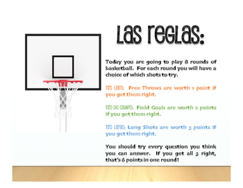 Spanish Telling Time Basketball