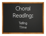 Spanish Telling Time Choral Reading