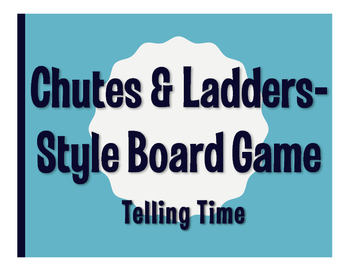 Spanish Telling Time Chutes and Ladders-Style Game