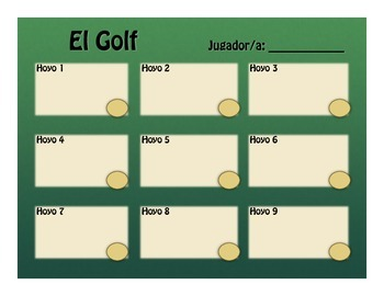 Spanish Telling Time Golf