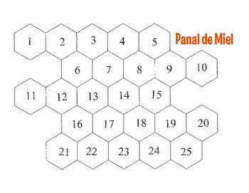 Spanish Telling Time Honeycomb Partner Game