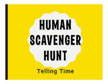 Spanish Telling Time Human Scavenger Hunt