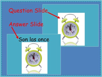 Spanish Telling Time PowerPoint Interactive Student Activity - Que hora es?