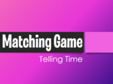 Spanish Telling Time Matching Game