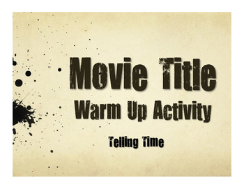 Spanish Telling Time Movie Titles