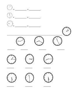 Spanish Telling Time Notes