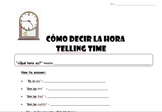 Telling Time in Spanish - Como decir la hora