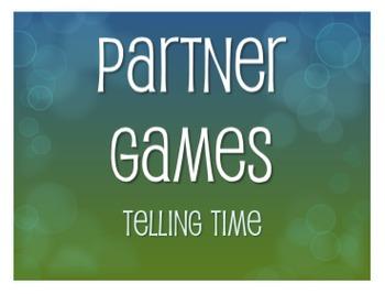 Spanish Telling Time Partner Games