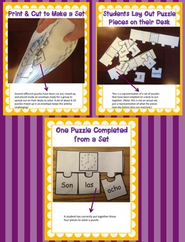 Spanish Time Puzzles - Que Hora Es? - Spanish Telling Time Activity