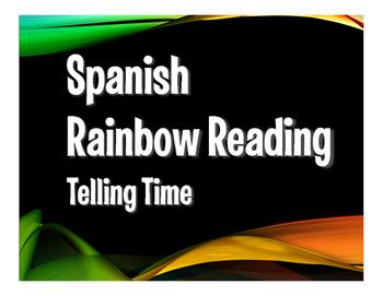 Spanish Telling Time Rainbow Reading