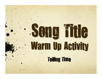 Spanish Telling Time Song Titles