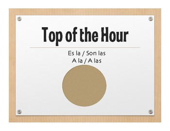 Spanish Telling Time Wall Charts