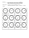 Spanish Telling Time Worksheet