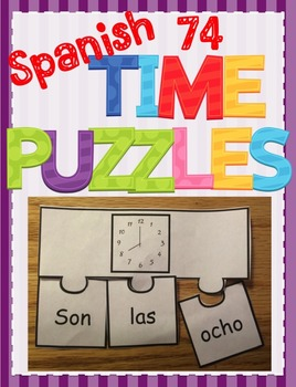 Spanish Telling Time Worksheet, PowerPoint, & Puzzle BUNDLE - Que Hora es?