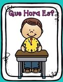 Spanish Telling Time Worksheets