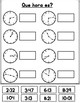 Spanish Telling Time Worksheets