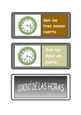 Spanish Telling the time dominoes .Dominó de las horas .