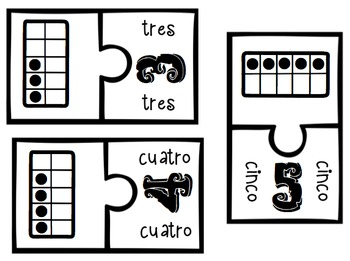 Spanish Ten Frames Puzzle 0-20