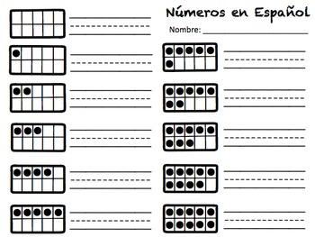 Spanish Ten Frames Puzzle 0-20