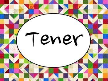 Spanish Tener BUNDLE- PowerPoint, Worksheets Pack, Keynote
