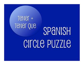 Spanish Tener Circle Puzzle