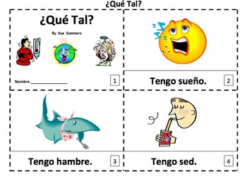 Spanish Tener Expressions 2 Emergent Reader Booklets