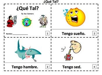 Spanish Tener Expressions 2 Emergent Reader Booklets