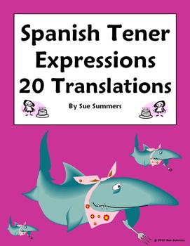 Spanish Tener Expressions 20 Sentence Translations