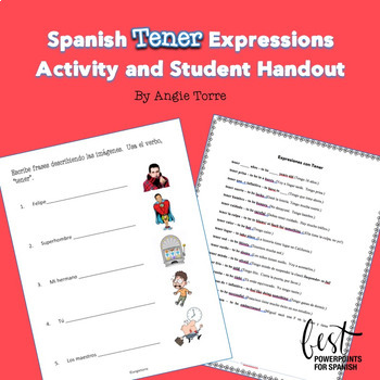 Spanish Tener Expressions Activity and Student Handout