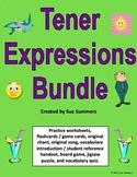 Spanish Tener Expressions Bundle - 6 Worksheets, Quiz, Car