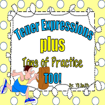 Spanish Tener Expressions PICTURE Notes and Practice Power