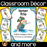 Spanish Classroom Decor - Tener Expressions Posters and Worksheets