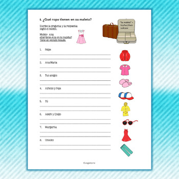 Spanish Tener Interactive Notebook Activities and Student Handout