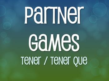 Spanish Tener Partner Games