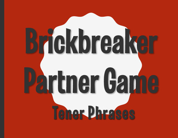 Spanish Tener Phrases Brickbreaker Partner Game