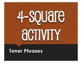 Spanish Tener Phrases Four Square Activity