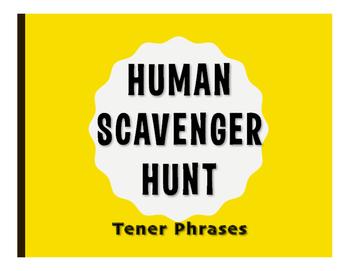 Spanish Tener Phrases Human Scavenger Hunt