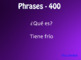 Spanish Tener Phrases Jeopardy-Style Review Game
