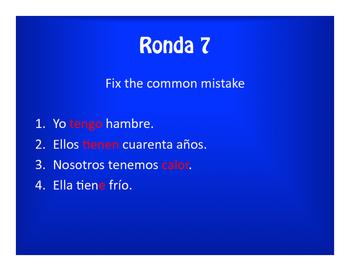 Spanish Tener Phrases Olympics