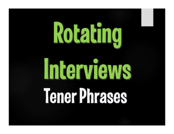 Spanish Tener Phrases Rotating Interviews
