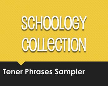 Spanish Tener Phrases Schoology Collection Sampler