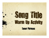 Spanish Tener Phrases Song Titles