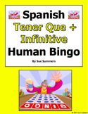 Spanish Tener Que + Infinitive & Chores Human Bingo Game Speaking Activity