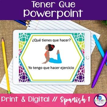 Spanish Tener Que Powerpoint