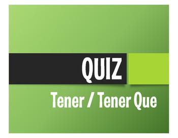 Spanish Tener Quiz