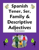 Spanish Tener, Ser, Family and Adjectives Fill in Blank and  Translations