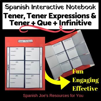 Spanish Tener, Tener + que + Infinitive & Tener Expression Interactive Notebook