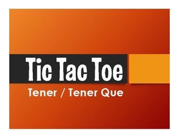 Spanish Tener Tic Tac Toe