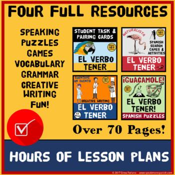Spanish Tener Verb BUNDLE. El Verbo Tener en el Presente en Español