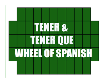 Spanish Tener Wheel of Spanish